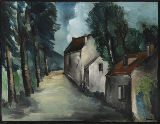 莫里斯•德•弗拉芒克 - 绘画 - Rue du village