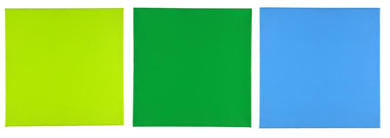 Aurélie NEMOURS - Peinture - Polychromie (triptyque)
