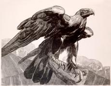 Paul JOUVE - Grabado - Aigle Impérial