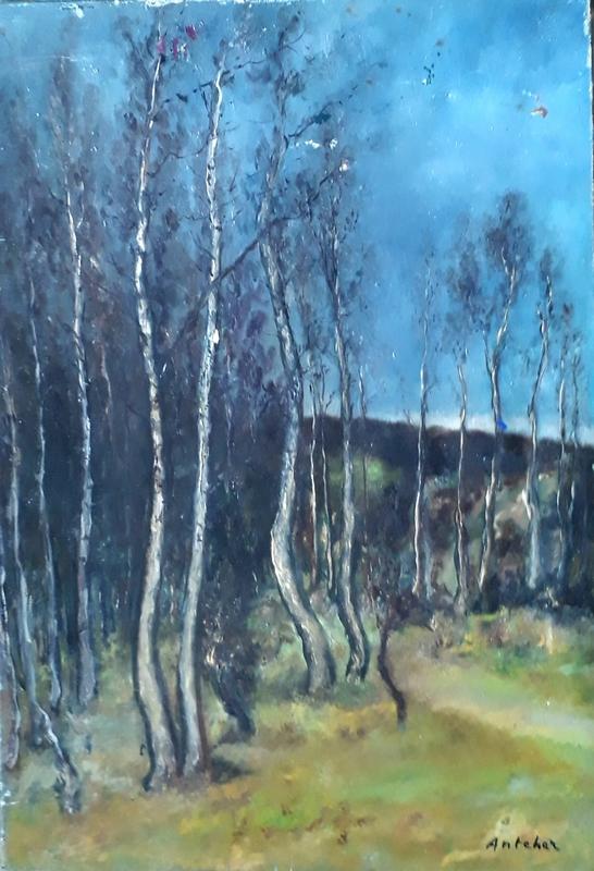 Michael ANCHER - Gemälde - Landscape in France