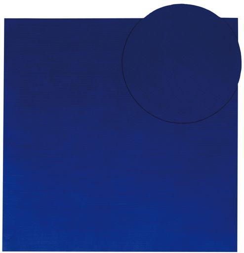 Gianfranco ZAPPETTINI - Painting - Quadrato e cerchio blu 08.07.03