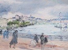 Jean FUSARO - Pintura - Promenade sur le pont