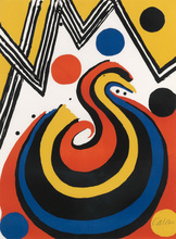 Alexander CALDER (1898-1976) - Abstract Composition in Red, Yellow, Blue and Black