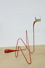 Markus HOFER - Sculpture-Volume - Liquid drawing (red)