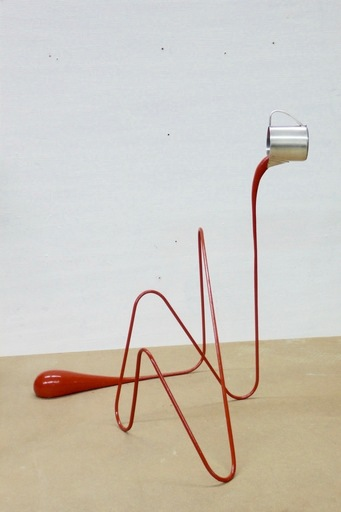 Markus HOFER - Escultura - Liquid drawing (red)