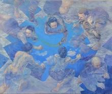 Hiromi SENGOKU - Pittura -  Citizens of a commune making a new world