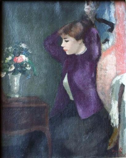 François GALL - Peinture - Jeune femme