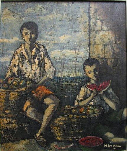 Marcel DUVAL - Pintura -  Boys with Watermelon