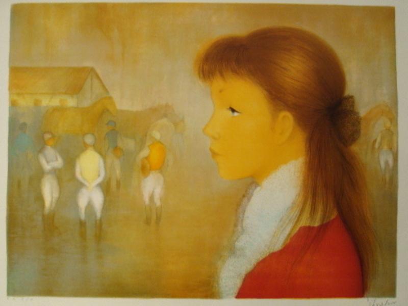 Guy SÉRADOUR - 版画 - Les jockeys,1985.