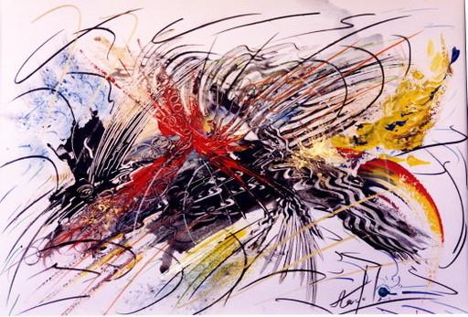 Didier ANGELS - Peinture - au ryhme du dragon 2