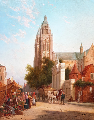 William Raymond DOMMERSEN - Pittura - The Cathedral
