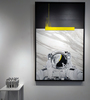 Laurent MINGUET - Painting - Ultra Yellow - Série Abstract Gravity