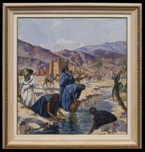Henri Jean PONTOY - Painting - Porteuses d'Eau, Vallée du Gheris