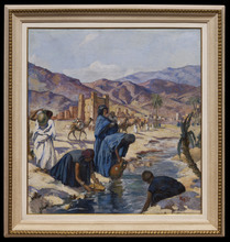 Henri Jean PONTOY - Pintura - Porteuses d'Eau, Vallée du Gheris