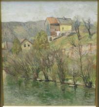 Fritz KÖHLER - Gemälde - Häuser in der Eifel