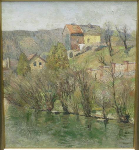 Fritz KÖHLER - Pintura - Häuser in der Eifel