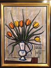 Bernard BUFFET - Painting - Tulips