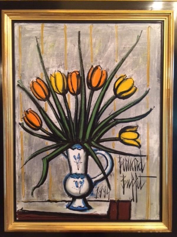 Bernard BUFFET - Peinture - Tulips