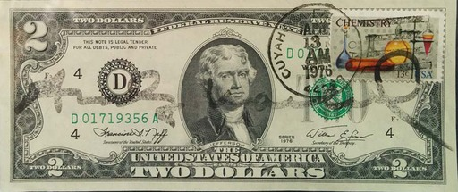 Andy WARHOL - Grabado - Two Dollars - Declarations of indipendence