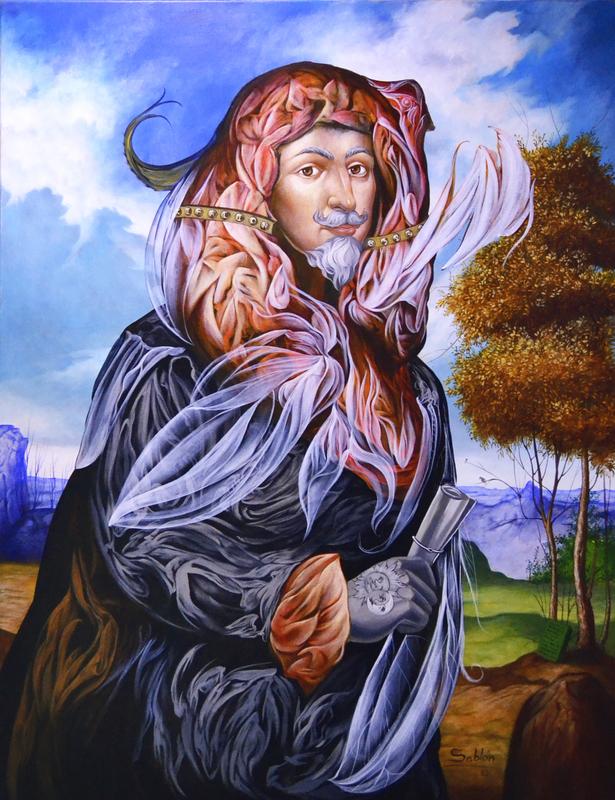 Carlos SABLÓN - Peinture - Le Trois Fois Grand