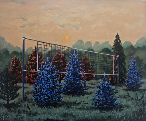 Damir MURATOV - Painting - Volleyball