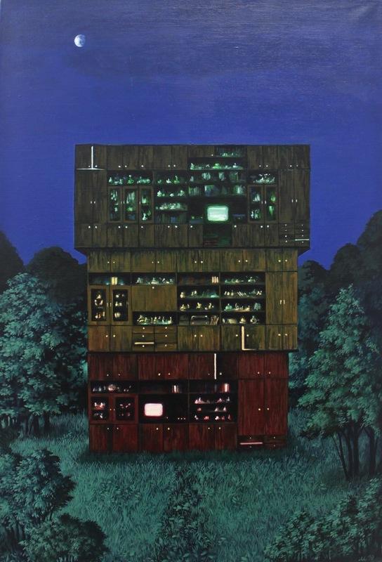 Damir MURATOV - Painting - Three-storey Building
