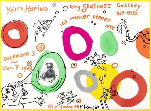 凯特•哈林 - 版画 - Keith Haring Tony Shafrazi Gallery - Affiche