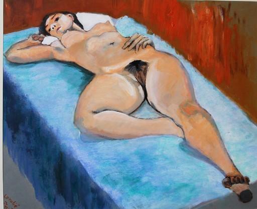 R.CAVALIÉ - Peinture - L'impudique 1.