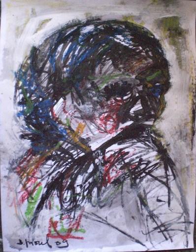 Bernard MOREL - Disegno Acquarello - TETE