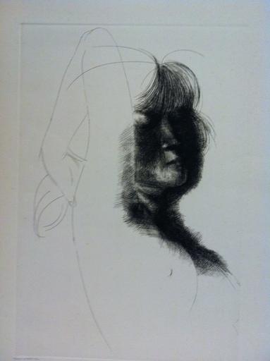 Emilio GRECO - Stampa-Multiplo - profilo di donna