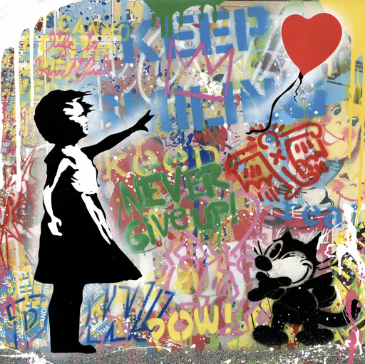 MR BRAINWASH - Pintura - Balloon Girl