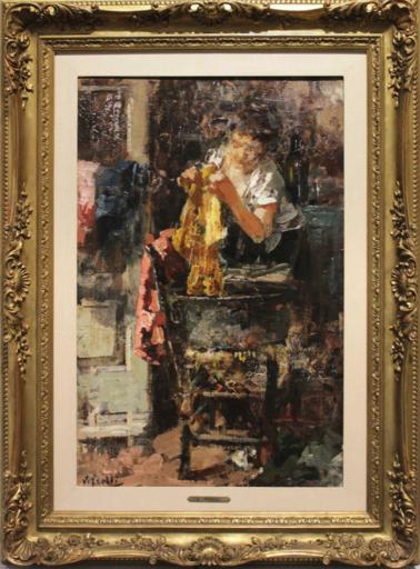 Vincenzo IROLLI - Gemälde - Lavandaia