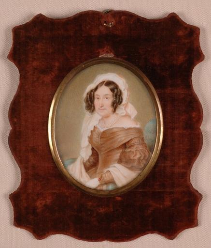 """Richard SCHWAGER - Miniature - """"Austrian Lady"""", Miniature"""