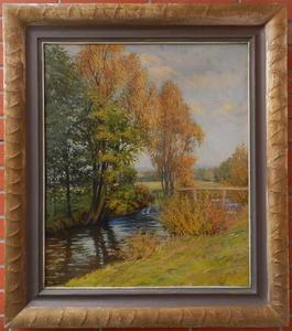 Gustav MALLY - Painting - Autumn landscape