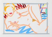 汤姆•韦瑟尔曼 - 版画 - Judy on Blue Blanket