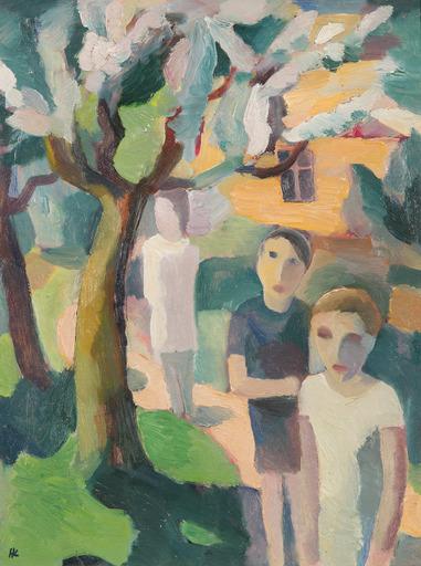 Karl HAUK - Peinture - Im Garten