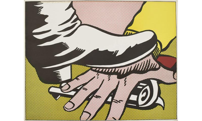 Roy LICHTENSTEIN - Grabado - Foot and hand