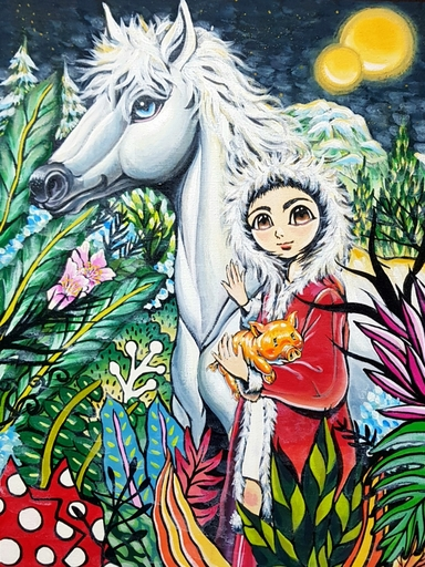 Seung-Hun SHIN - Gemälde - Fantasy Jejuisland- Island Girl Story Chun-ja's Journey of H
