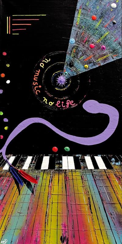 Eric FOURNIER - Peinture - No Music - No Life