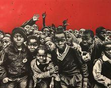 JEF AÉROSOL - Pintura - Red Sky