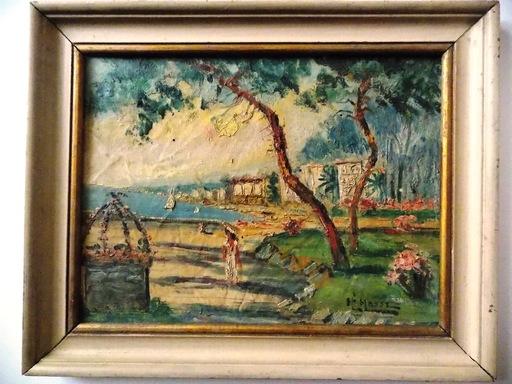 Micheline MASSE - Peinture - Pinède à Golfe Juan