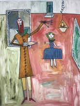 Abraham DAYAN - Painting - Les Menines