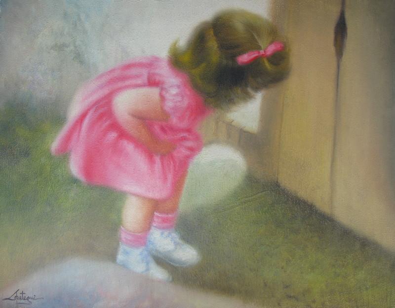 Juan LOPETEGUI - Painting - Curiosity