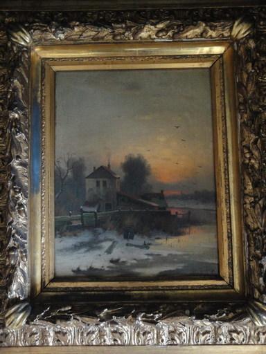 Eduard II HEIN - Peinture - altes Gehöft am See