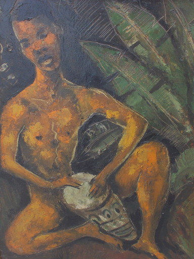 Jacques ALLONSIUS - Painting - L'africaine