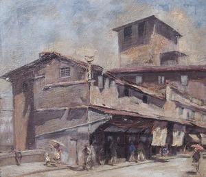Guido SOMELLI - Pintura - Ponte Vecchio Firenze
