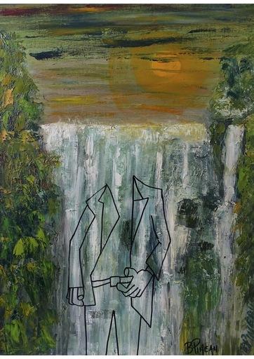 Bernard PINEAU - Painting - H087 Chutes