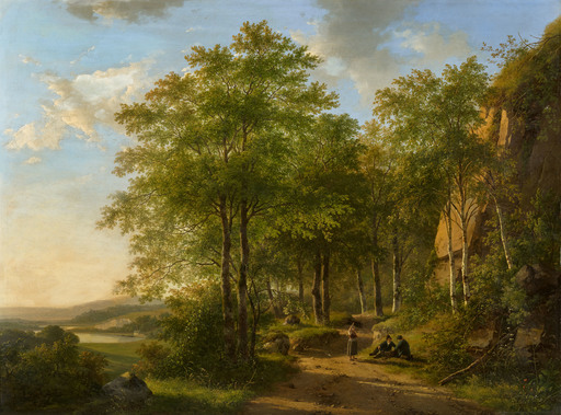 Andreas SCHELFHOUT - Pittura - Summer Landscape in the Meuse Valley