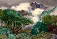 Doctor ATL - Painting - Paisaje con volcán - Sold