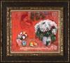 Marc CHAGALL - Peinture - Les Fiancés sur Fond Rouge